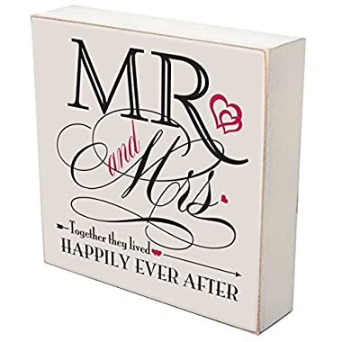 Mr. and Mrs. Wedding anniversary gift for couple, housewarming gifts ideas love shadow box by DaySpring Milestones (Mr. and Mrs.)