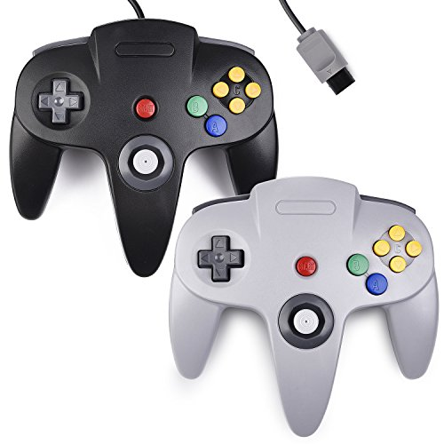 2X Classic N64 Controller Wired for N64 Video Console, kiwitatá Remote N64 Game Controller Upgraded Joystick Gamepad