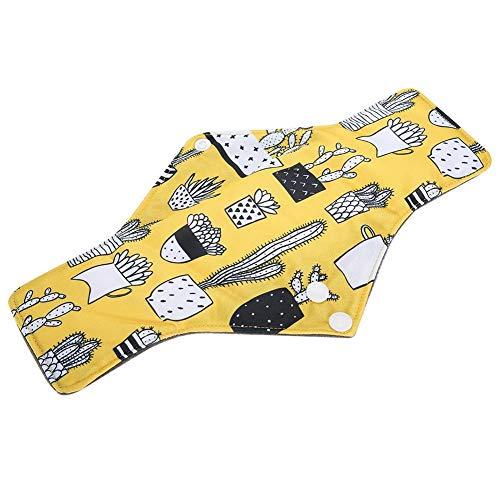 Wiederverwendbare, Bambus Wiederverwendbare Damenbinden Pads, Waschbare Wiederverwendbare Stoffbinden mit Flügeln, Tuch Menstruation Pads Für Frauen 11.8 x 7.1 Zoll (P09)