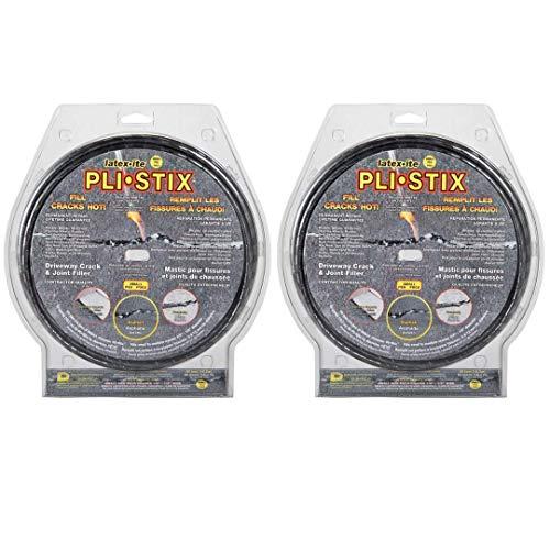 Dalton Enterprises 36099 PLI-STIX 60 Ft. Asphalt and Concrete Crack Filler (2 Pack)