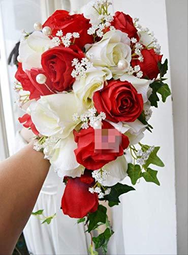 Handgemacht Bouquet Wasserfall Stil Hochzeit Blume Brautstrauß Hochzeit Floral Braut Hand Bouquets Dekorative