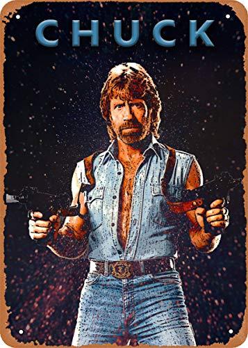 Unidwod Chuck Norris Martial Arts Legends 8 x 12 Inches - Vintage Metal Tin Sign for Home Bar Pub Garage Decor Gifts