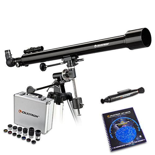 Fantastic Prices! Celestron 21043 Bundle PowerSeeker 60mm Telescope with Skymaps, Optics Cleaning To...