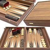 Backgammon Set - Tournament Walnut & Maple Wooden - Premium Edition