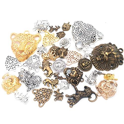 50 g 100 g DIY mezclado tigre león leopardo encantos colgante terrestre pulseras collares para artesanía joyería