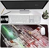 Gaming Alfombrilla de Ratón Grande Juego extendido Mouse Pad Star Wars Teclado Grande Alfombrilla de ratón 900x400mm de Gran tamaño Mousepad for computadora PC Desk Office (Color : 81)