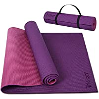 Trideer 6 mm Thick Non Slip Yoga Mat with Wide Carrying Strap
