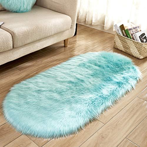 Moquettes, tapis et sous-tapis Tapis de sol tapis de sol tapis de salle de bain tapis de sol tapis de salle de bain ovale imitation laine moderne Carpets & Rugs (Couleur : B, taille : 80 * 180cm)