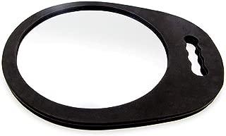 Minkissy 1PC Hairdressing Mirror Round Salon Mirror with Handle Salon Back Mirror