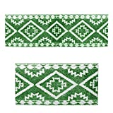 COMFORT & SAFE MATERIAL - With an environmentally friendly and comfortable design concept, Fluffy Kilim Anti Skid Kitchen Rug Set made of premium PVC and high-quality strength materials. So it is ensured that you are able to stand comfortably while w...