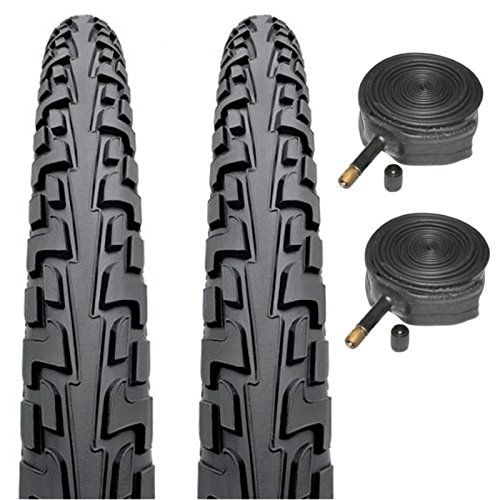 Continental Tour Ride 26' x 1.75 Bike Tyres with Schrader Tubes (Pair)