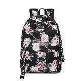 ZFSWMY mochila para mujer al aire libre impresa lona de viaje estudiante gran capacidad Carto onBackpack 30 x 14 x 45 cm (color: B) (color: A)