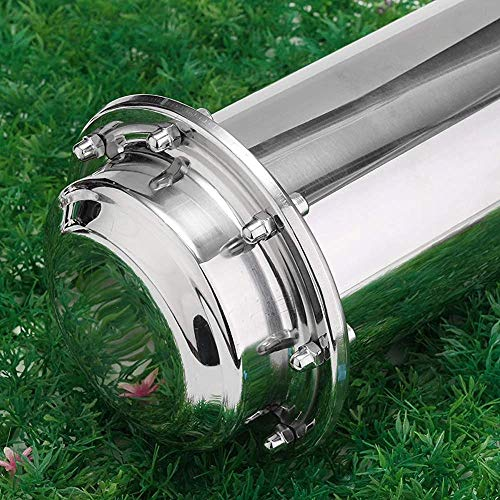 Hanwu Zeitkapsel Anti-Korrosions-wasserdicht Edelstahl Kapselbehälter dauerhaft verschlossene Behälter für freie Kennzeichnung der zukünftigen Abschlussgeschenke,10 * 50CM