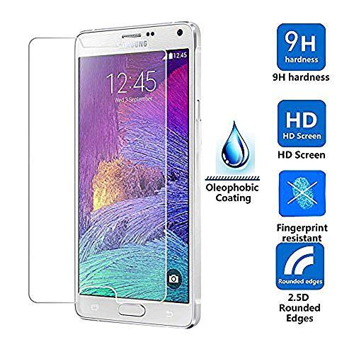 Gehard glas compatibel voor Samsung Galaxy Note 4, Ellenne® [Anti-Reflex-UltraClear] Ultra-resistent van gehard glas - verpakking met 2 glazen ruiten