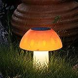 Luz de la noche lámpara solar al aire libre patio lámpara parque seta impermeable led villa jardín decoración césped insertado pequeñas luces de noche Warmlight