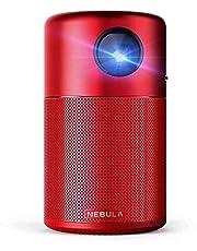 Anker Nebula Capsule (Android搭載モバイルプロジェクター)【100ANSI ルーメン / DLP搭載 / 360°スピーカー / ホームエンターテインメント】レッド