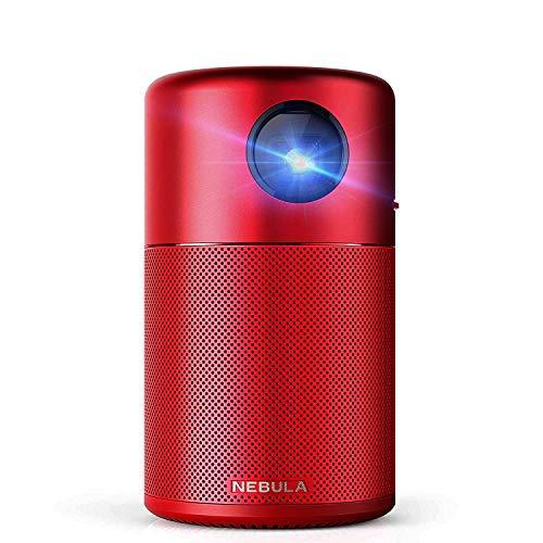 Anker Nebula Capsule (Android搭載モバイルプロジェクター)100ANSI ルーメン   DLP搭載   360°スピーカー   ホームエンターテインメントレッド
