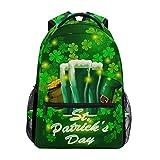 Wamika St Patricks Day Bier-Rucksack, wasserfest, Schulranzenbeutel, Gymrucksack, Kleeblatt, grüne...
