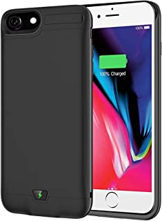 Battery Case for iPhone 6/6S/7/8, 5500mAh Portable Charging Case Protective Rechargeable Charger Case Extended Battery Compatible with iPhone 6, 6S, 7, 8 (4.7inch) Power Bank (Black)