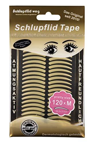 Bande de correction pour paupières Schlupflid Tape «pretty size» (M) - 60 patchs – Pas d'opération - Pour un regard plus ouvert - Correcteur pour paupières tombantes