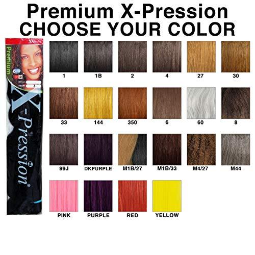 X-pression Premium Original Ultra Braid. - Color 2 (Pack of 3)