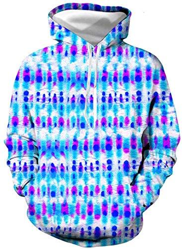 Funnyy Sudadera Unisex, 3D Modelo del teñido impresión Casual con Capucha Sudaderas Blusa Superior de los chándales de Manga Larga otoño Invierno Hombres Mujeres, 3, XL (Color : 3, Size : XX-Large)