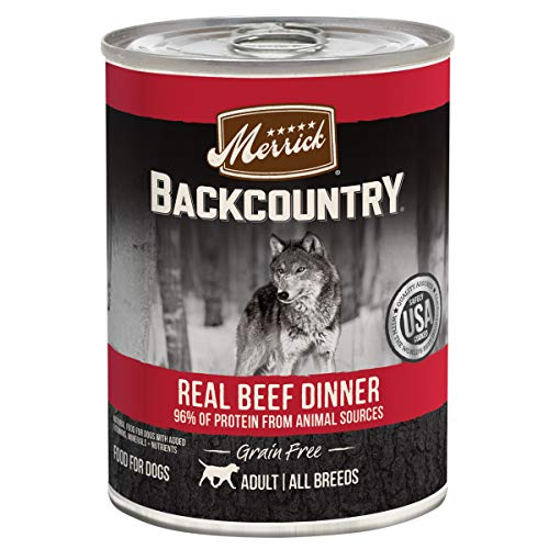 Merrick Backcountry Grain Free Wet Dog Food Real Beef Recipe - (12) 12.7 oz Cans