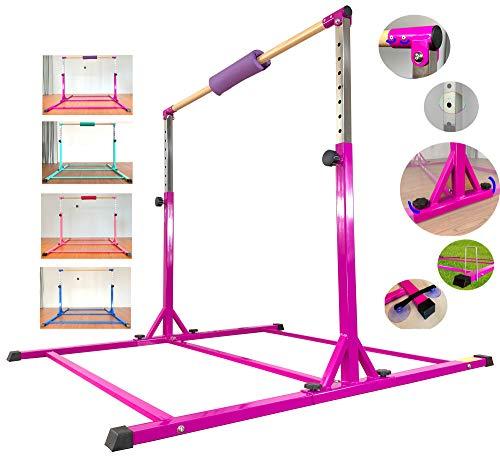 Marfula Horizontal Gymnastics bar with Fiberglass Rail & 304 Stainless Steel Arms for Kids Home use Junior Training Bar, Kip Bar