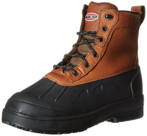 Iron Age Men's IA9650 Compound Industrial and Construction Shoe, Black/Brown, 9 W US