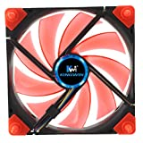 Kingwin Duro Bearing Silent Series 120 mm x 120 mm Case Fan with White LED Cooling - DB-124