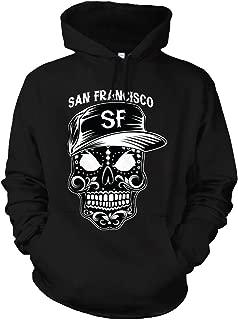 CaliDesign SF San Francisco Sugar Skull Hoodie Hooded Sweatshirt Mexico Mexican Dia de Los