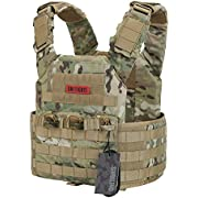 OneTigris PLPC Plate Carrier Advanced Version 500D Nylon MOLLE Tactical Vest for Paintball Airsoft Wargame CS Outdoor (Multicam)