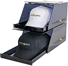 The CapBox Black Stackable Hatrack Cap Rack Hat Box Storage Containter for Baseball Caps, Fitted Hats, Snapbacks & Trucker...