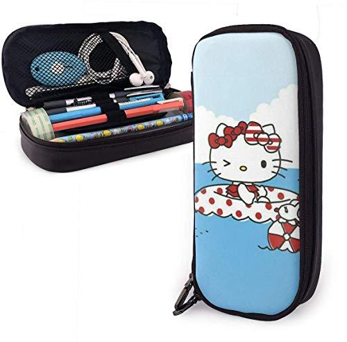 Federmäppchen hallo kitty pool zeit große kapazität bleistift tasche make-up stift tasche schreibwaren mit doppelreißverschluss stifthalter für schule/büro
