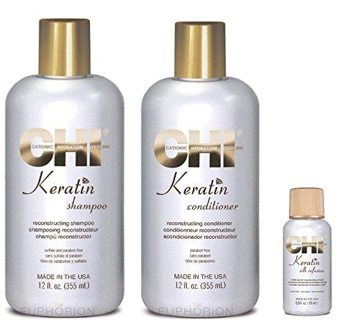 Farouk chi Keratin Silk Infusion 15 ml shampoo | 350 ml | conditioner 350 ml