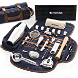 Travel Mixology Bartender Kit   24 Pieces Deluxe Barware Tool Sets...