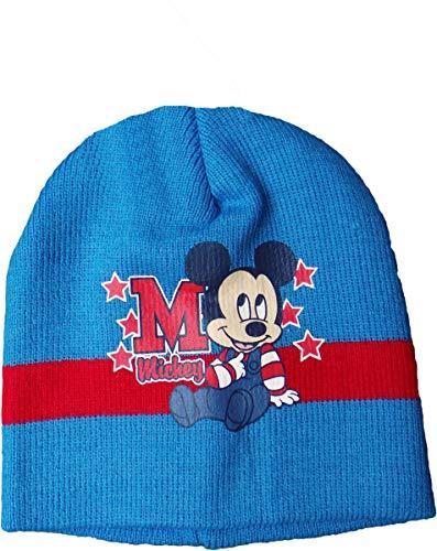 Disney Micky Maus Baby Mütze - M für Mickeys Sterne - Dunkelblau/Rot/Mehrfarbig