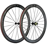 700c rim decals - SunRise Bike Carbon Road Wheels 700C 50mm Clincher Wheelset 3k Matte Finish with Decal