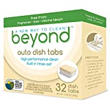 Beyond Natural Dishwasher Tablets - Fragrance & Dye Free - ZERO...