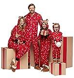 Familie Weihnachten Kapuzenpullover Overall Pyjamas Nachtwäsche Hirsch Langarm...