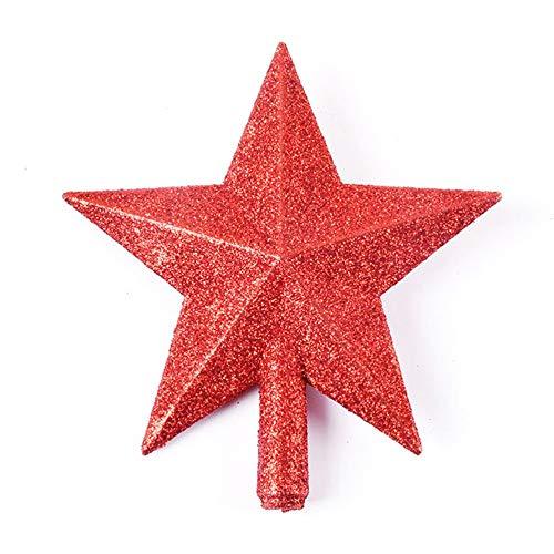 LeftSuper Julgransstjärna Julgrans toppstjärna 3D Fempunktsstjärna 20 cm julhembordstoppare