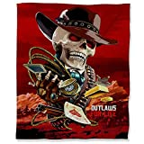 Red Dead Redemption 2 Flannel Fleece Ombre Throw Blanket 50' x 60', Game Outlaw for Life Soft Plush Throw Blanket for Couch