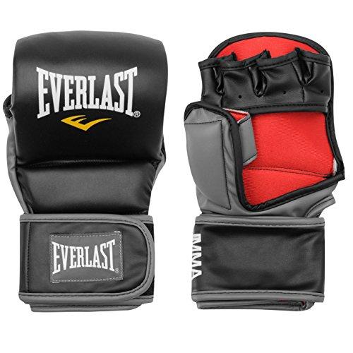 Everlast Unisex Strike Training Kampfsport Handschuhe MMA Schwarz/rot S/M