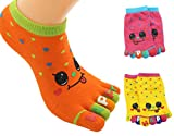 BONAMART ® 3 Paar Kids Kinder Mädchen Junge 5 Zehen Socken Zehensocken 3-5 Years Old