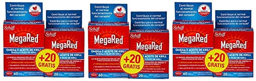 Megared Omega 3 - aceite de Krill; 60 capsulas +20 Cápsulas de Regalo ; Pack 3un.