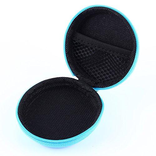 Estuche para auriculares: estuche para audífonos, rastreador de música, bolsa de almacenamiento de auriculares EVA de viaje portátil para auriculares, tarjetas de memoria, cable USB, disco U, etc.