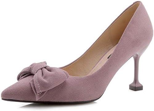 GXYGWJ Chaussures de Travail élégantes et et Sexy à Talons Hauts 8 cm Violet Noir, Violet, EU39 UK6 CN39  shopping en ligne