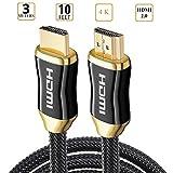 EMEBAY - Cavo HDMI 2.0 per Xbox, PS3/PS4, HDTV, Sky HD Box, registratori/lettori HD-DVD, Blu-Ray Altri decoder, monitor video, proiettori, TV LCD e Plasma
