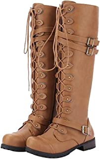 96f698901d2 Amazon.com: Combat - Knee-High / Boots: Clothing, Shoes & Jewelry