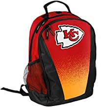 FOCO NFL Kansas City Chiefs Logo Gradient Print Primetime Deluxe Backpack, Team Color, Standard, One Size
